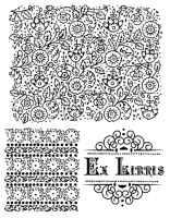 Набор силиконовых штампов «Кружевной фон»