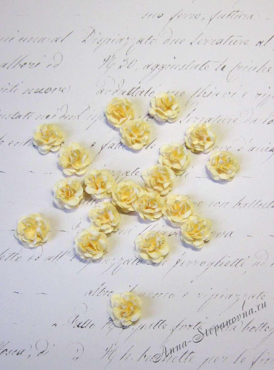 Мини-цветы «Монпансье» кремовые