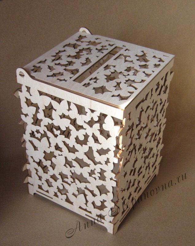 Короб свадебный «Бабочки»