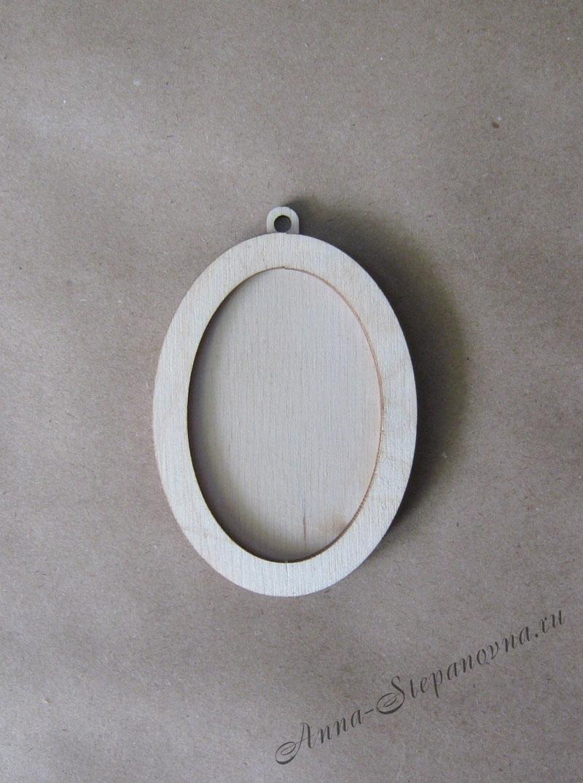 Рамка-медальон овальная №2