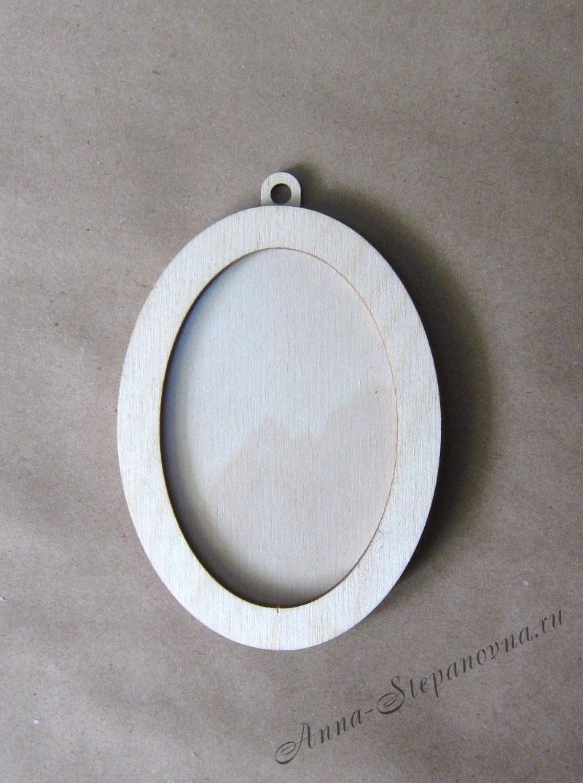 Рамка-медальон овальная №3