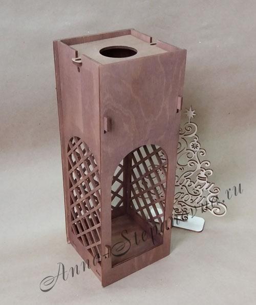 Короб для вина ажурный S4 Морилка