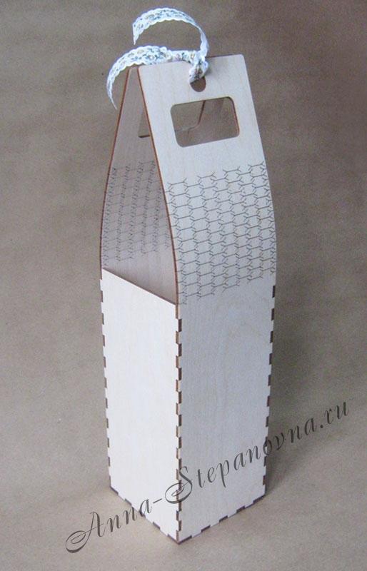 Короб-сумка для вина S3 Заготовка