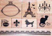 Штампы деревянные «Париж»