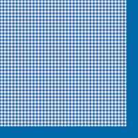 Салфетка «Синяя клетка» №545