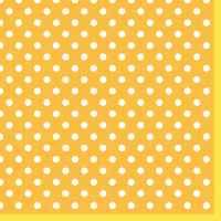 Салфетка «Горошек на желтом» №546