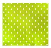 Салфетка «Горошки на зеленом»
