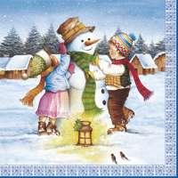 Салфетка «Лепим снеговика» №582