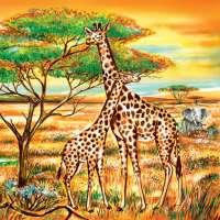 Салфетка «Африканская саванна» №585