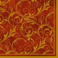 Салфетка «Узор на красном» №618