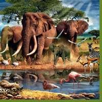 Салфетка «Слоны» №630