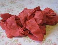 Шебби-лента «Ретро-красный»