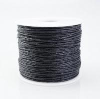 Шнур вощеный 1 мм черный