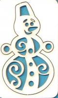Чипборд «Снеговик №3»