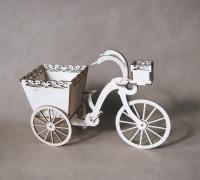 Велосипед интерьерная фигурка