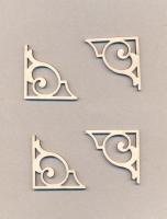 Уголки накладные «Узор №10» из фанеры