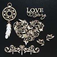Чипборд картонный «Романтика. Ловец снов»
