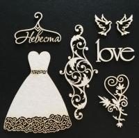 Чипборд картонный «Романтика. Невеста»