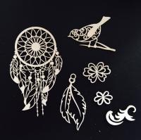 Чипборд «Щебетание», коллекция Веление сердца