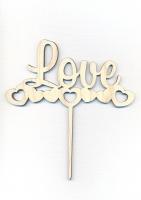 Топпер «Love» с сердечками