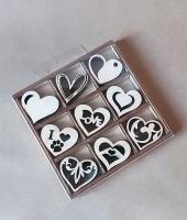 Набор «Сердечки» элементы из дерева