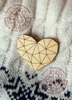 Заготовка «Сердце» значок