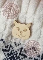 Заготовка «Британский кот» значок