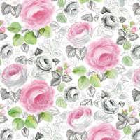 Цветной листовой войлок с рисунком «Розы»