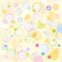 Цветной листовой войлок с рисунком «Круги»