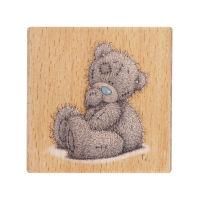 Деревянный штамп «Сидящий медвежонок»