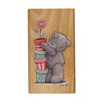 Деревянный штамп «Цветочные горшочки»