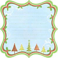 Бумага фигурная односторонняя «Новый год»