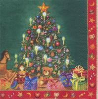 Салфетка для декупажа «Ночь подарков»