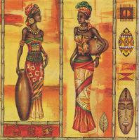 Салфетка для декупажа «Африканские женщины»