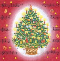 Салфетка для декупажа «Рождественская мелодия»
