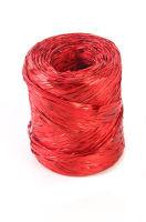Рафия синтетическая метал. Красная