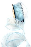 Декоративная шифоновая лента «Полосочка голубая»
