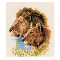 Набор для вышивания «Пара львов»