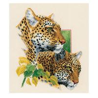 Набор для вышивания «Пара леопардов»