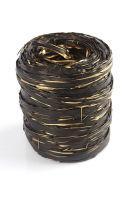 Рафия синтетическая черно-золотая