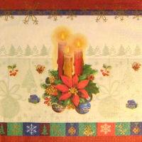 Салфетка для декупажа «Три свечи»