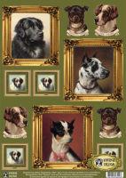 Декупажная карта «Портреты собак»