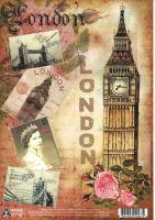 Переводная декупажная карта «Лондон»